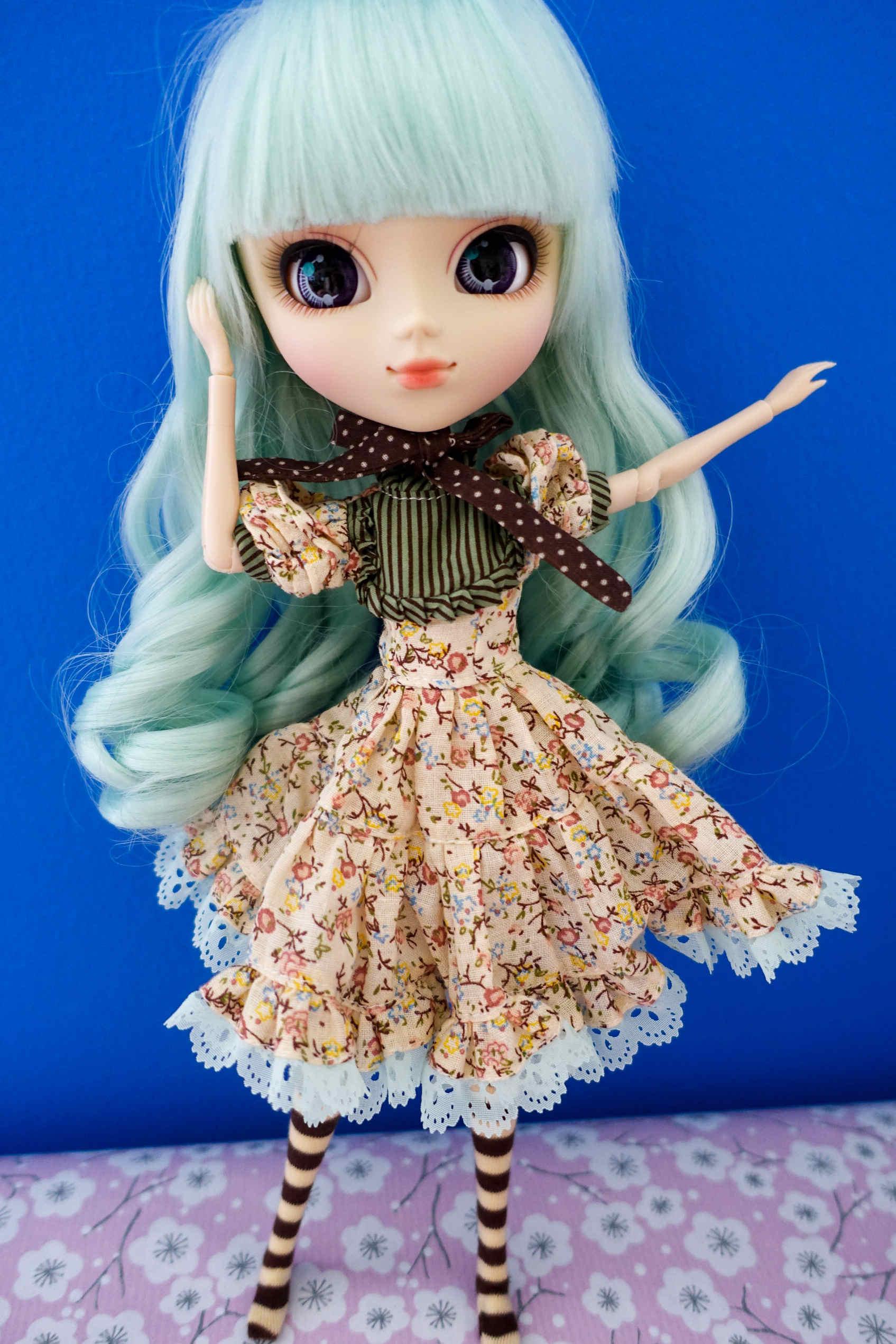 Pullip alice du jardin mint dress komonogatari for Alice du jardin pullip