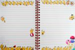 pages of Pikachu notebook