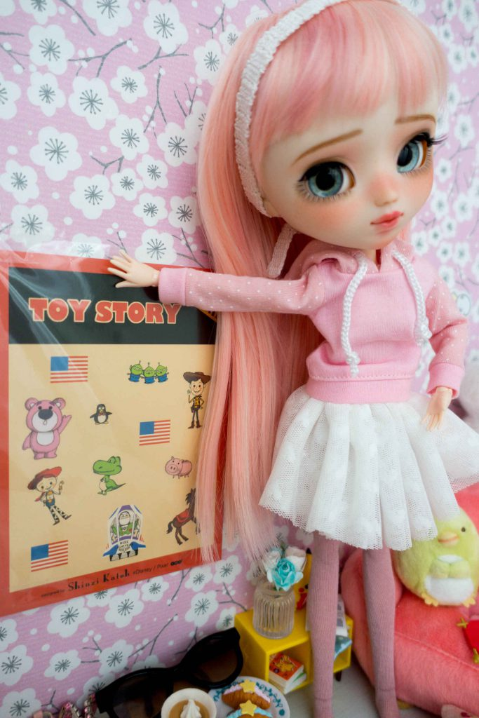 Ruri and her Toy Story poster!