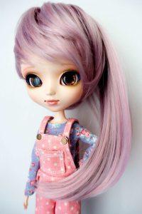 Leeke wig in lavender rose