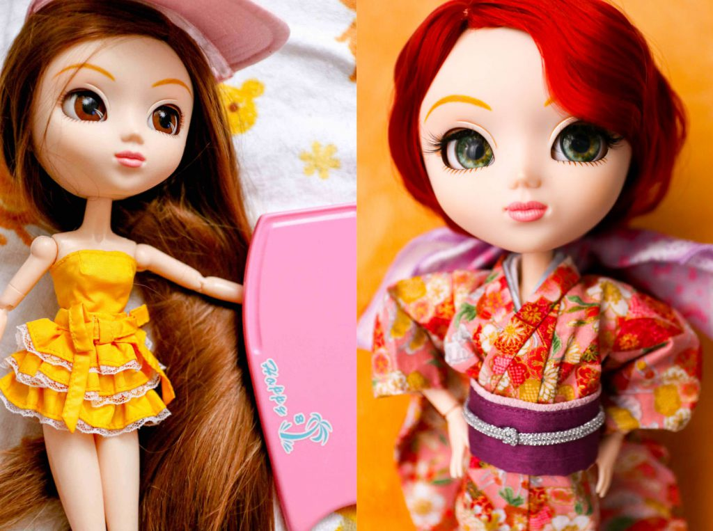 Pullip Summer Purezza before and after her customization.