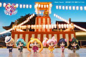 Pretty Sailor Moon Petit Chara girls in yukata!