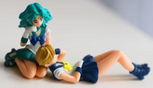 Sailor Neptune & Sailor Uranus gashapon